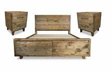 Bedroom Set - Lobister Reclaimed Wood 3 Piece Queen Bedroom Suite, Wood Crate