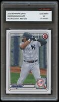 JASSON DOMINGUEZ 2020 BOWMAN DRAFT (Topps) 1ST GRADED 10 ROOKIE CARD NY YANKEES