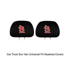 New Team ProMark MLB St. Louis Cardinals Head Rest Covers For Car Truck Suv Van