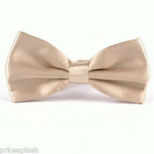 Men's Pre Tied Satin Wedding Party Fancy Plain Necktie Ties Bow Tie Multi Colour