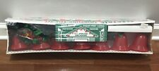 🎄New Vintage Christmas Yule Glo Electric Twinkling Bell Set Holly Garland