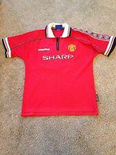 Manchester United Football Shirt Home 1999 Umbro Size 12-13 Years Kit England