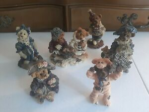 Boyds Bears & Friends Lot of 6 Bearstone Figurines No Boxes