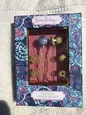 NIB Lilly Pulitzer Earbuds with Silicone Tips and Volume Control Gypsea Girl