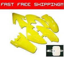 Honda CRF50 XR50 CRF XR 50 Body Kit Plastic Fairing Set YELLOW BRAND NEW