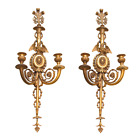 Pair English Regency Style Gilt Bronze Sconces Attributed to E.F. Caldwell
