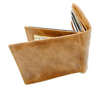 Brown Handcrafted Cowhide Leather Men's Bifold Premium Wallet Gift Box