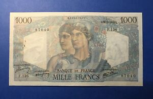 1000 FRANCS 1945 MINERVE et HERCULES 22 NOVEMBRE 1945 - BILLET FRANÇAIS -