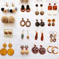 Ear Hook Women Earrings Jewelry Gift 37# 1 Pair Lady Geometric Round Drop Dangle