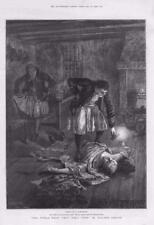 1886 - Antique Print FINE ART World Went Very Well Walter Besant Candle (118)