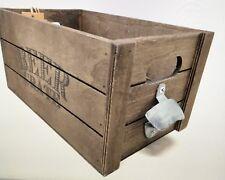 Wooden Beer Bottle Holder Carry Rack Crate Box & Bottle Opener AWAITING STOCK