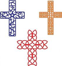 Crosses Metal die Set Cheery Lynn Cutting dies 3pc Easter,wedding,sympathy