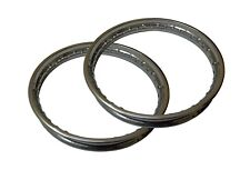 Pair Royal Enfield BSA Stainless Steel Wheel Rim 19""