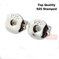 100 Stück Butterfly-Verschluss Back Stopper für Ohrringe 925 Silber Plattiert