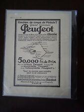 B0- Vieille publicité voiture Peugeot coups de pédale
