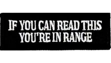 "MOTORCYCLE PATCH BIKER TRIKE 4"" x 1"" IF YOU CAN READ THIS YOUR IN RANGE"