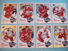 "2010-11 Upperdeck Complete 8 Card Base Set Steve Yzerman ""Hockey Heroes"" HH1-HH8"