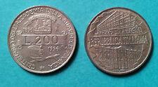 Repubblica Italiana 200 Lire 1996 Centenario Guardia di Finanza