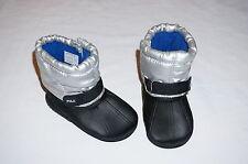 NWOB RALPH LAUREN boot  layette infant shoe BOY 0-3M size 1 silver, black