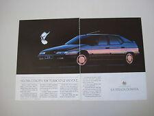 advertising Pubblicità 1990 CITROEN XM TURBO D 12V