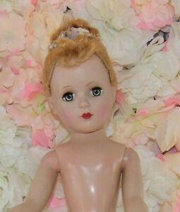 "MARGARET FACE Marked MADAME ALEXANDER 18"" Hard Plastic doll Nina? Floss wig"