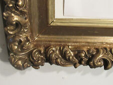 ANTIQUE  19C BAROQUE DEEP CORE GILDED FRAME FOR 30 X 20 INCH PAINTING