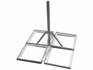 non penetrating ground stand for tv aerial satellite installs with 4 slab insert