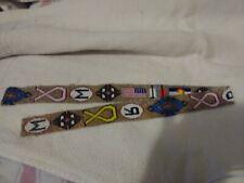 "Native American/Modern Beaded bead strips(2) Design.36.1/2"" long 1.1/4 wide"