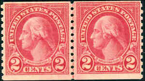 599A COIL LINE PAIR F-VF NH WITH CERT SCOTT CAT $1150