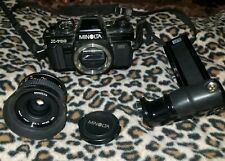 Minolta X-700 Classic Film Camera with MD 28mm lense and Motor Drive 1