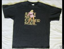 CHRISTINA AGUILERA Back To Basics Size Large Black T-Shirt