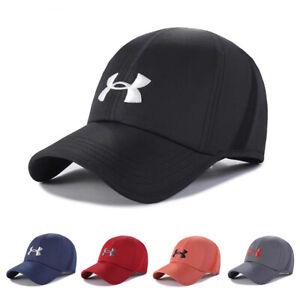 Men's Under Armour Snapback Soccer Cap Quick Drying Baseball Cap Golf Sun Hat