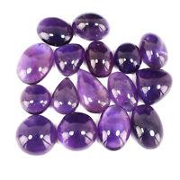 16 Pcs Natural Purple Amethyst 17mm-27mm Cabochon Loose Gemstones Wholesale Lot