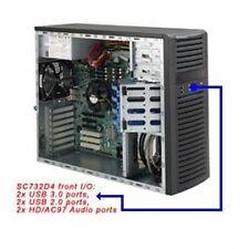 Supermicro Case CSE-732D4-500B SC732D4 Front Audio USB3.0/2.0 500W Black Retail