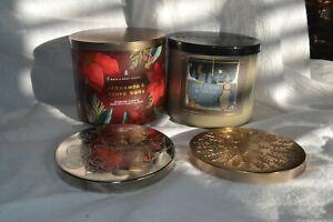 Two (2) Empty Glass Candle Jars - Bath & Body Works