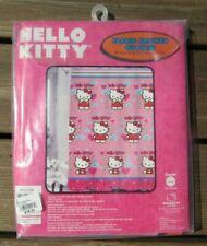 "Unused Hello Kitty ""Fluttering Hearts"" Fabric Shower Curtain"