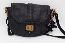 A4498 Juicy Couture Collection Shoulder Flap Bag Black Leather Purse MSRP$298