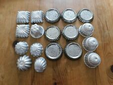 Vintage aluminium molds 18 individual size including small flan cases