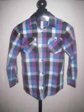 OLD NAVY BOYS LS PLAID SHIRT-COTTON/POLYESTER-EXCELLENT, BARELY WORN