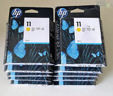 10x HP 11 HP11 - C4838A Yellow Tintenpatronen Sparpack Neu OVP 2011-2015   AA-04