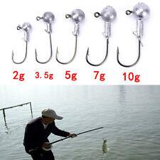 20pcs/lot 2g 3.5g 5g 7g 10g lead jig head hook lure bait carp fishing worm B Sf