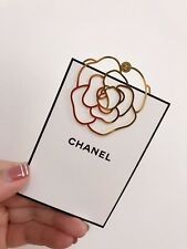 New Gold Metal Camellia Chanel Bookmark Accessories VIP gift