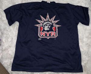 New York Rangers T Shirt Lady Liberty Hockey NYR jersey Majestic 2XL XXL