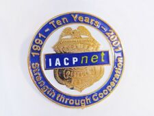 IACP-net (1991-2001) 'Ten Years - Strength Through Communiction, Lapel Pin