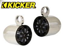 "Pair of Wakeboard Tower 6.5"" Speaker Kicker 45KM654CW 390Watt Marine Speaker"