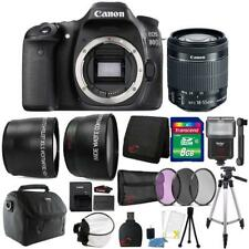 Canon EOS Digital SLR 80D 24.2MP Camera with 18-55mm Lens  and Accessories