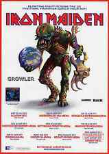 IRON MAIDEN - 2011 TOUR FLYER - RARE LIVE CONCERT HEAVY METAL GIG MUSIC PROMO