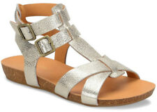4c70b4b58a3 Kork-Ease Doughty Gladiator Light Gold Metallic Leather Flat Sandal US 11 43