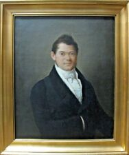 Ölgemälde Biedermeier Empire Gold Rahmen Weidner Portrait Herr Mann