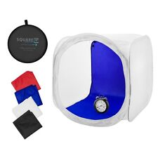 Square Perfect 30 Inch Classic Photography Light Tent - Softbox w/ 4 Backgrounds